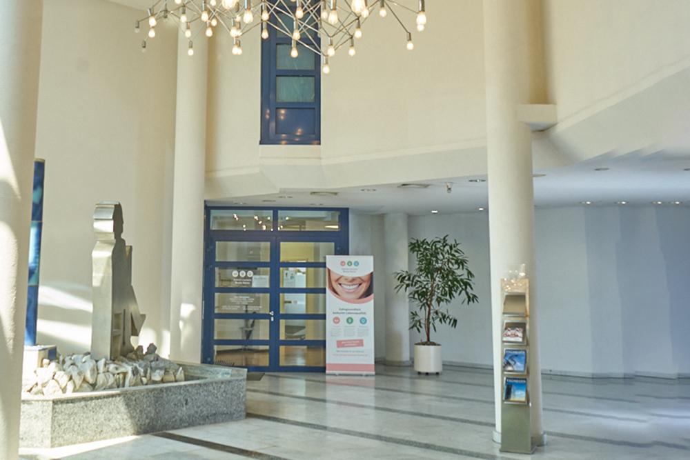Zahnärztin Eschborn - Beate Korus - Eingangsbereich der Praxis